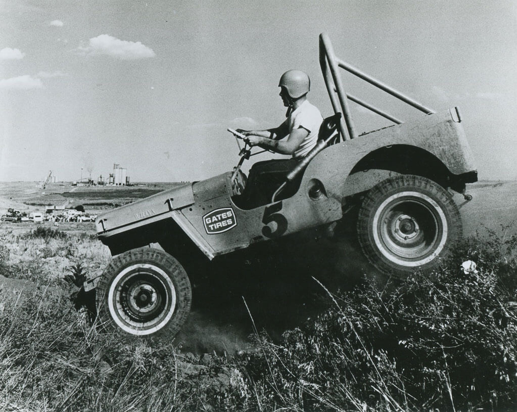 Utility vehicles introduced the four-wheel drive to the Peak.