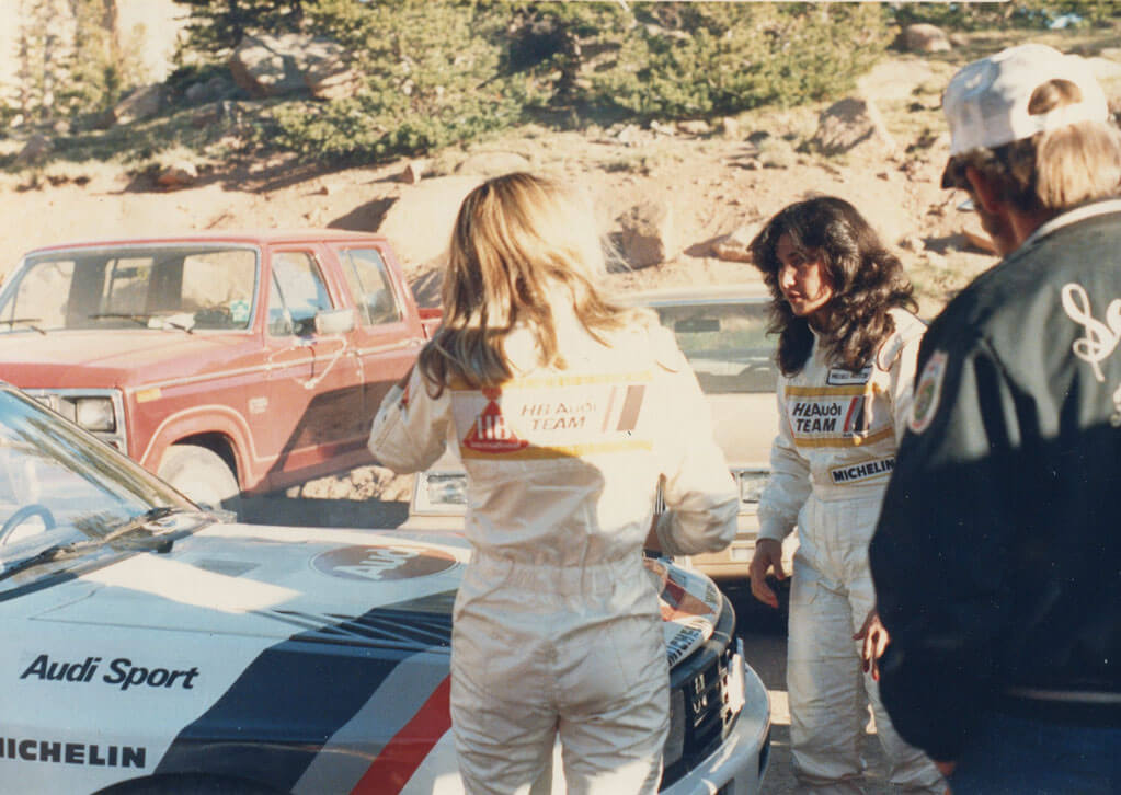 Michelle Mouton becomes the first woman winner and record-breaker for the race.